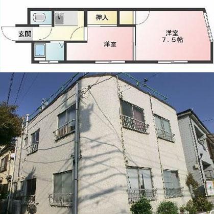 葛西駅徒歩10分 2K ¥51,500